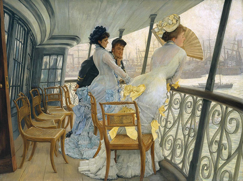 The Gallery of HMS Calcutta, James Tissot (1876)